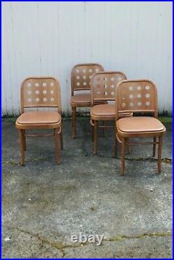 Josef Hoffmann 6010 Chairs Set 4 Bauhaus Mid Century Modern Rare Prague Vintage