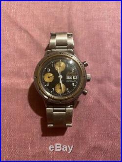 LL Bean Hamilton 9446 Sportsman's Chronograph Vintage & Rare Watch Valjoux 7750