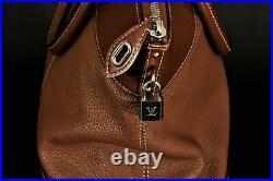 LOUIS VUITTON Brown Leather Large Purse RARE Vintage European Bag