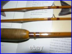 Lyle Dickerson # 8013 Bamboo Fly Rod 8ft, 2/2 trout model Rare! Original bagtube
