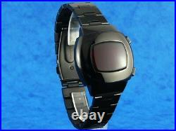 MEN IN BLACK II 2 BLACK 70s Vintage Style LED LCD DIGITAL Rare Retro Mens Watch