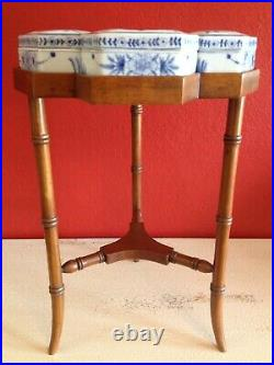 Maitland Smith Table Occasional Side Table Vintage & Ceramic Boxes Super Rare
