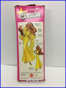 Mattel Rare Vintage 1976 Superstar Christie 9950 In Box