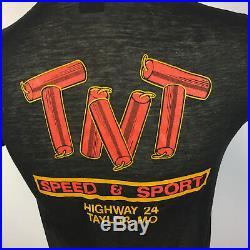 Mega Rare! Vintage 80s 3D Emblem Harley Davidson Paper Thin Pig T Shirt