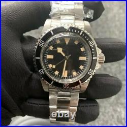 Mens Vintage Diver Watch Faux Patina Parnis Homage Sterile Dial Automatic Rare