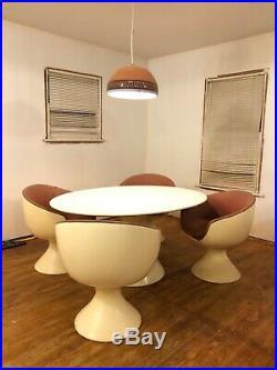 Mid century modern space age atomic vintage fiberglass RARE chair swivel retro