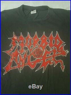 Morbid Angel Shirt 1990s OG Band vintage rare Black Metal Death Mayhem Bvrzvm