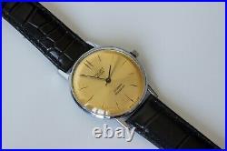 New Old Stock Ultra Slim Ussr Poljot De Luxe Wrist Watch 2209 Movement Rare