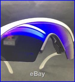 Oakley Razor Blades 2005 Matte Clear Blue Iridium Authentic Vintage Rare 03-388
