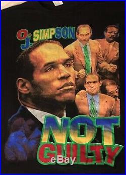 Oj Simpson 90s Rap Rare Vintage Shirt Not Guilty XL Juice Is Loose