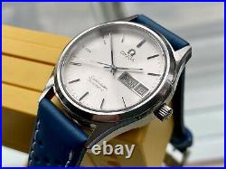 Omega Mens Seamaster Steel Automatic Vintage Day Date rare 1984 Year used watch