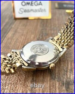 Omega Seamaster Rare Crosshair Vintage Mens Watch 1966 Serviced + Warranty