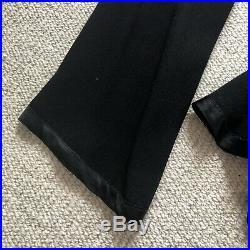 Ossie Clark Rare Vintage Black Crepe & Satin Trouser Suit Size 12. 1969 to 1970