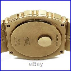 Piaget Polo Heavy Vintage 18k Yellow Gold Mens Watch, Mint Condition, Rare 31mm
