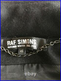 RAF SIMONS WOOL CROPPED BOMBER JACKET (Black) Fall 2005/2006 (RARE) VINTAGE