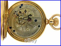 RARE 18k Gold Waltham Appleton Tracy Co Model 1877 18s 15j Hunter Pocket Watch