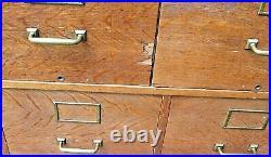 RARE 1914 GLOBE WERNICKE Stacking Barrister Tiger Oak Bookcase File Cabinet