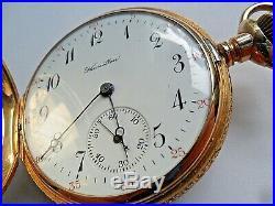 RARE 1949 Indy 500 Winner Awarded Solid 14k Gold 1949 Hamilton 17J Pocket Watch