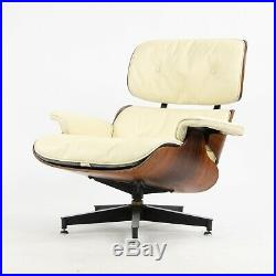RARE 1960's Vintage Herman Miller Eames Lounge Chair & Ottoman 670 671 Ivory 2
