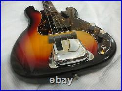 RARE 1980's vintage Fernandes The Revival PB62 Precision bass guitar sunburst