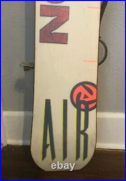 RARE 1992 Burton Air Asym Vintage Snowboard With Bindings 160 163 cm GOOFY
