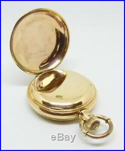 RARE Antique Waltham 15 Jewel 5 Minute Repeater 16 Size Hunter Case Pocket Watch