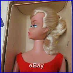 RARE EXC Platinum Blonde SWIRL 1964 Barbie Vintage Ponytail