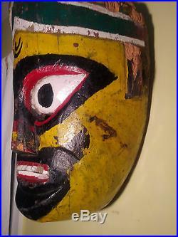 RARE Extra-Large Vintage/Mid-Centurty Hindu Ramlila Dance Ramnagar India Mask