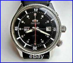 RARE Japan ORIENT KING DIVER KD SK AAA 2 WINDOW AUTOMATIC Watch 21J BLACK DIAL
