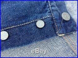 RARE LEVIS Clown Rodeo BIG E DOUBLE X REDLINE Denim Jeans XX LEVI Leather Patch