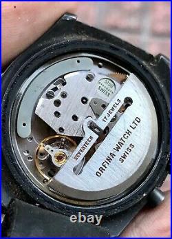 RARE Orfina Porsches Design Military Issue Chronograph Lemania 5100 SERVICED