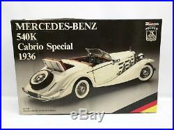 RARE Pocher Rivarossi 1936 Mercedes Benz 540K Cabrio Kit 1/8 Scale K82 VINTAGE