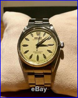 RARE VINTAGE 1950's Rolex Oyster Perpetual Auto (34mm) ORIGINAL OYSTER BRACELET