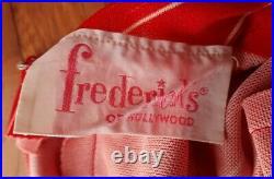 RARE VTG 70s Fredrick's of Hollywood Jumpsuit Wide Leg Halter Top Sz 5/6 Disco