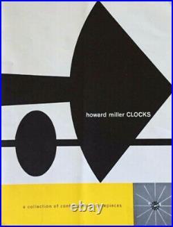RARE Vintage 1950 George Nelson Howard Miller Chronopak Table Clock Model 4765