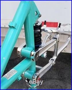 RARE Vintage 1997 Bianchi SUPER GL full suspension mountain bike frame LARGE GY