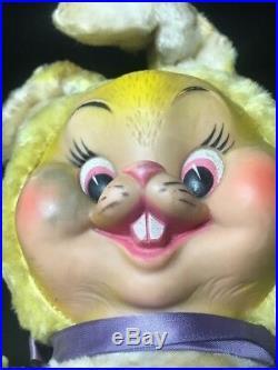 RARE Vintage 24 Rushton Star Creation Rubber Face Easter Bunny Rabbit