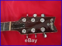 RARE Vintage 70's Lotus/Moridaira Washburn-Eagle guitar dark mahogany withcase