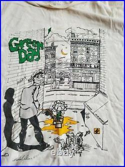 RARE Vintage Green Day T-shirt 1993 DOOKIE Tour MENS XL