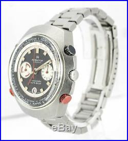 RARE Vintage Hamilton Count-Down GMT Chrono-Matic 141001-3 48mm Black Watch