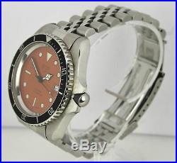 RARE Vintage Heuer Diver Orange 844-3 Automatic 42mm Stainless Steel Watch
