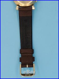 RARE Vintage LeCoultre Memovox 10K Gold Filled Alarm Men's Wristwatch