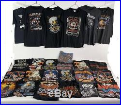 RARE Vintage Lot 25 Harley Davidson 80s 3demblem Single Stitch T-shirts