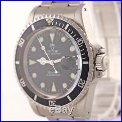 RARE Vintage Tudor Submariner Matte Black 79090 Prince Date 40mm Dive Watch d8