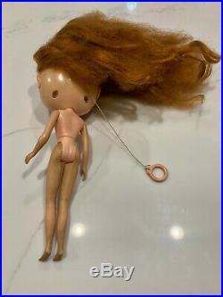 RARE Vintage Used 1972 Kenner Blythe Doll Red Hair Redhead Eyes Work! 7 Lines