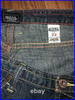 RARE Women's Authentic Von Dutch Originals 90s Vintage Style Jeans Size 33