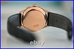 RARE Zenith Cal. 146DP 18K Solid ROSE Gold Chronograph 36mm Super