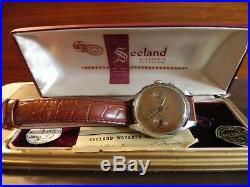 Rare 1940's Seeland Landeron chronograph in original box recently serviced