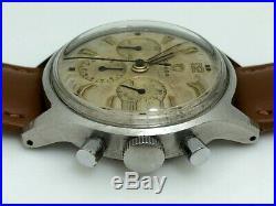 Rare 1952 Omega Chronograph 2451 Cal. 321 Stainless 35.5mm Pre Speedmaster Box