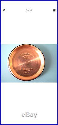 Rare 1954 18k gold ROLEX Datejust 6605 Roulette Date witht box+val+2 straps, Essex